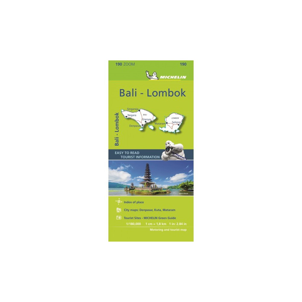 Michelin Bali : Lombok Road and Tourist Zoom Map 190 - Map (Paperback)