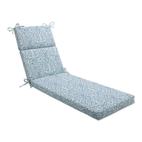 """72.5"""" x 21"""" Outdoor/Indoor Chaise Lounge Cushion Dobran Harbor Mist Blue - Pillow Perfect - image 1 of 1"""