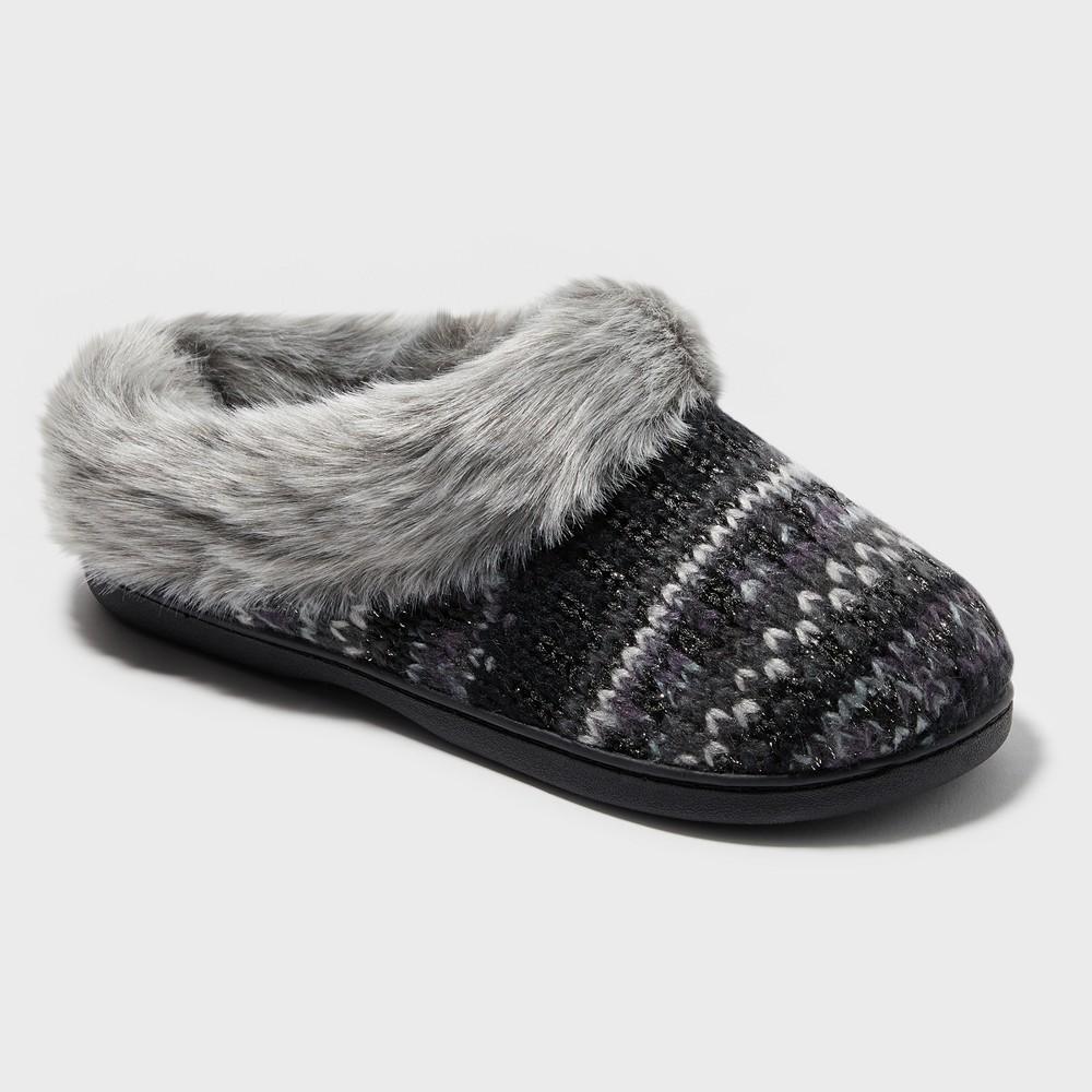Women's Dearfoams Slide Slippers - Black S