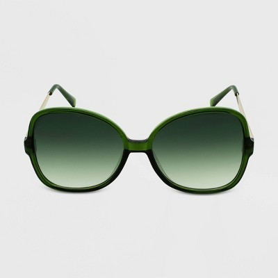 Women's Crystal Oversized Butterfly Sunglasses - Wild Fable™ Green