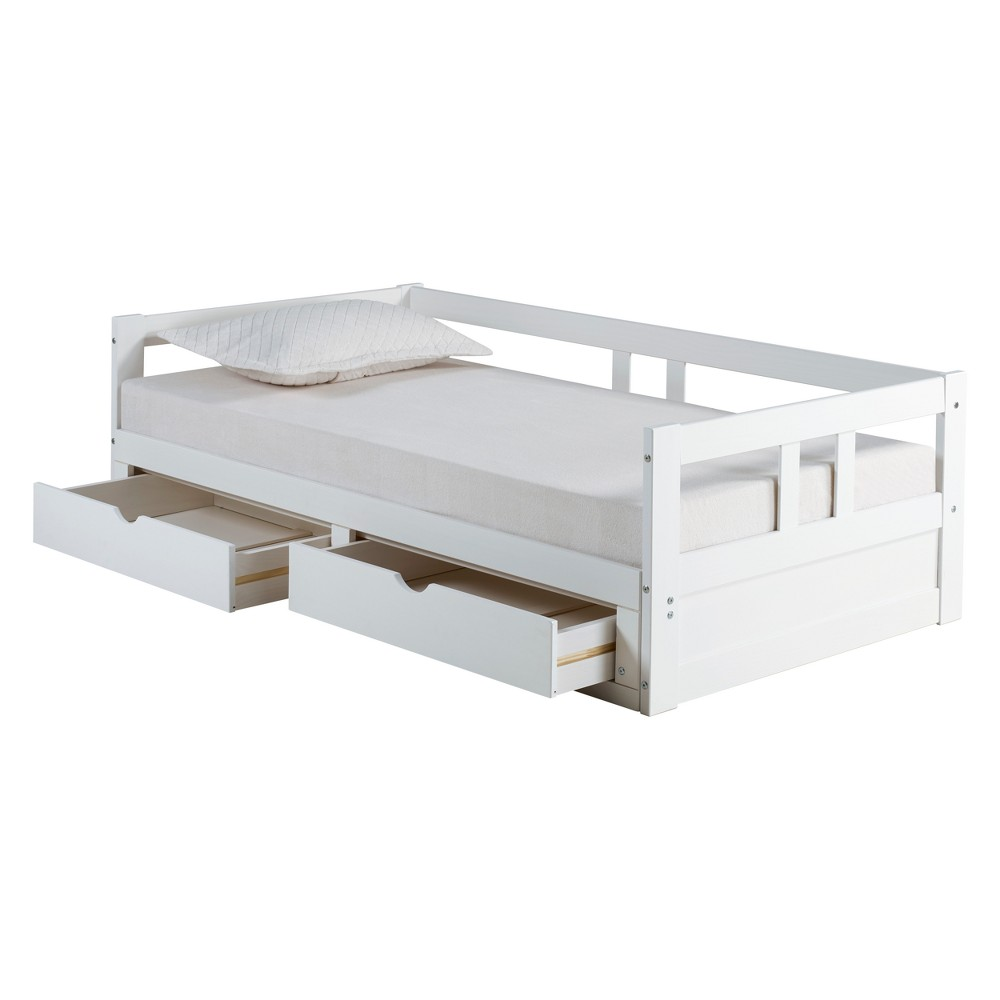 Melody Day Twin Bed With Storage White - Bolton Furniture