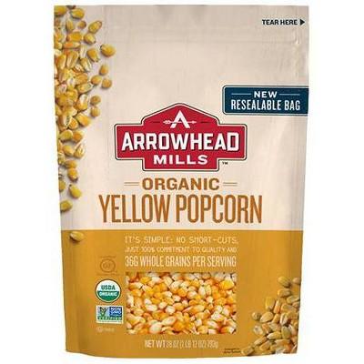 Arrowhead Mills Organic Yellow Popcorn - 28oz (Pack of 6)