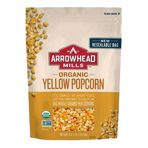 Arrowhead Mills Organic Yellow Popcorn - 28oz (Pack of 6) - image 1 of 2