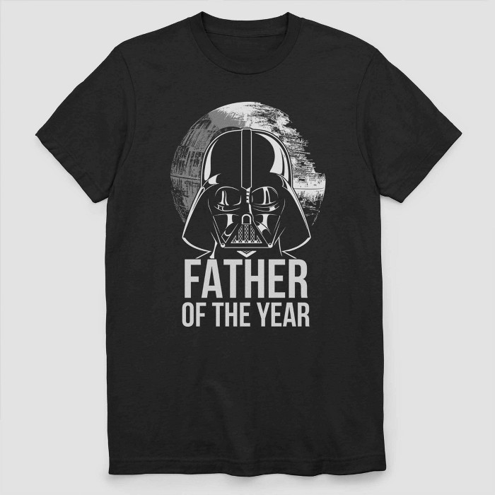 Men's Star Wars Father Of The Year Short Sleeve Graphic T-Shirt - Black - image 1 of 2