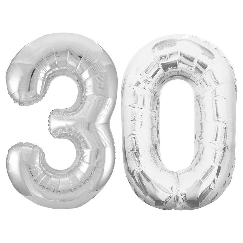 """30"" Jumbo Silver Foil Balloons - image 1 of 1"