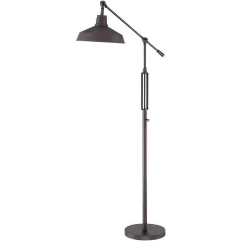 Franklin Iron Works Industrial Downbridge Floor Lamp LED Oil Rubbed Bronze Adjustable Metal Shade for Living Room Reading Bedroom - image 1 of 4