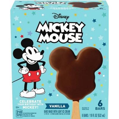 Disney Mickey Mouse Ice Cream Bars - 6ct