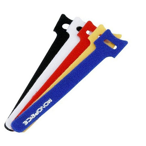 Monoprice Hook and Loop Fastening Cable Ties, 6 in, 100 pcs/pack, 5 Colors - image 1 of 3
