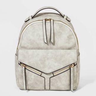 VR NYC Mini Leanna Backpack - Light Gray
