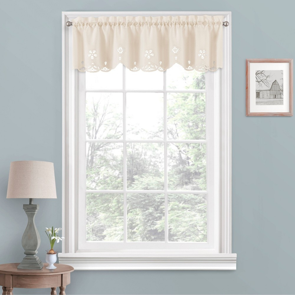 "Image of ""14""""x52"""" Elaine Valance Off-White - Vue"""
