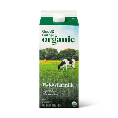 Organic 1% Milk - 0.5gal - Good & Gather™