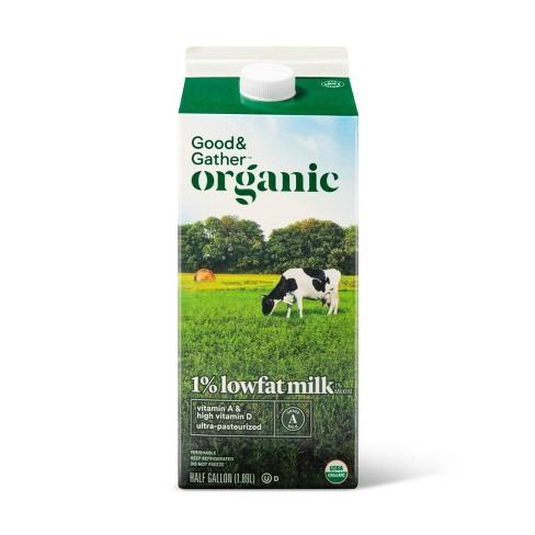 Organic 1% Milk - 0.5gal - Good & Gather™ - image 1 of 2