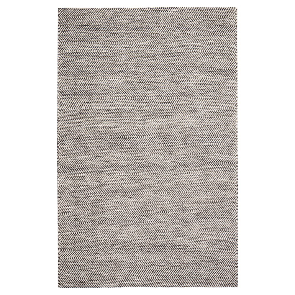 Beige Solid Woven Area Rug 5'X7' - Anji Mountain