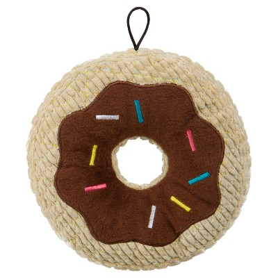 TrustyPup Chocolate Donut Durable Plush Dog - Brown - L