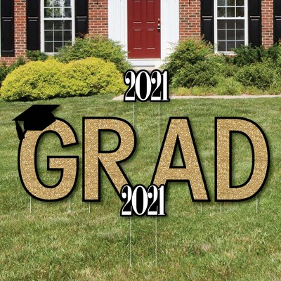 Big Dot of Happiness Gold Tassel Worth The Hassle - Grad Yard Sign Outdoor Lawn Decorations - 2021 Graduation Party Yard Signs - Grad