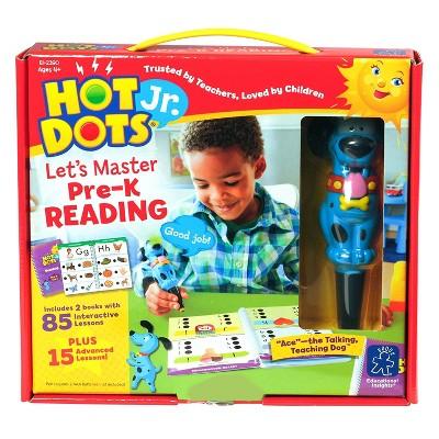 Educational Insights Hot Dots Jr. Let's Master Pre-K Reading Set & Interactive Pen
