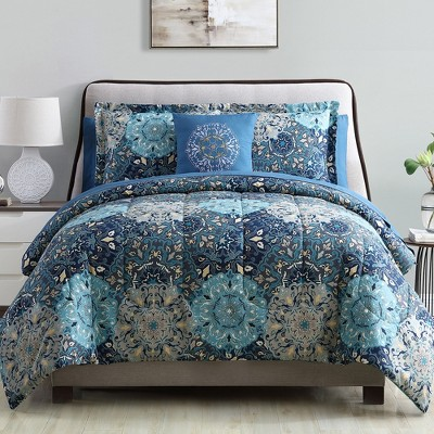 Modern Threads 6-Piece Printed Reversible Complete Bed Set Granada.