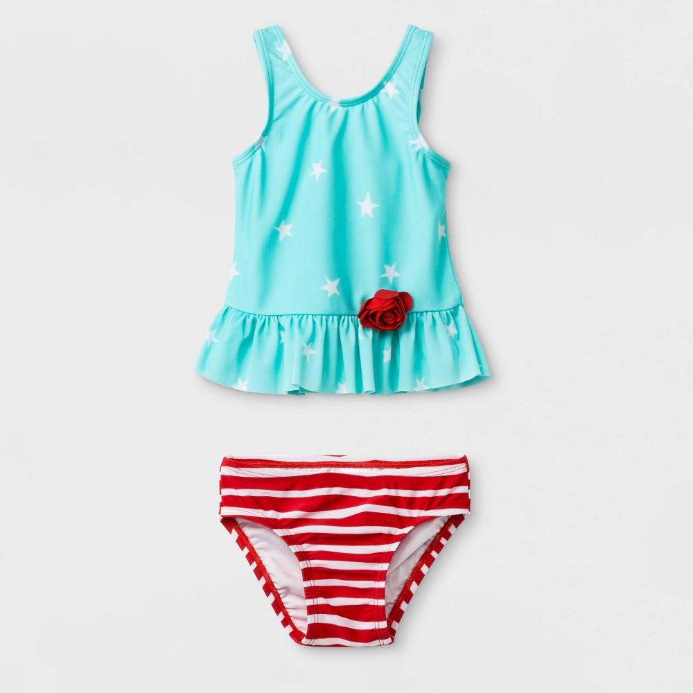 66c01760ee1 Baby Girls Star Tankini Cat Jack Aqua 18M Blue