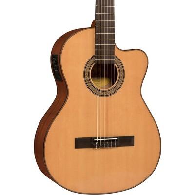 Lucero LC150Sce Spruce/Sapele Cutaway Acoustic-Electric Classical Guitar Natural