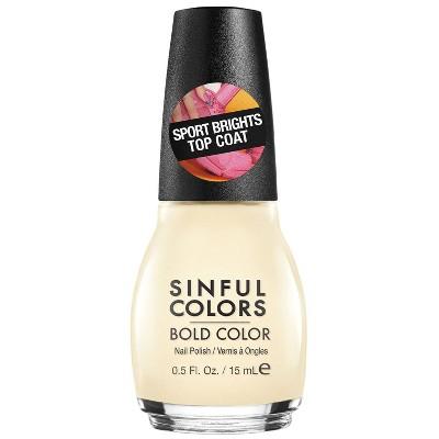 Sinful Colors Sporty Brights Top Coat - 0.5 fl oz