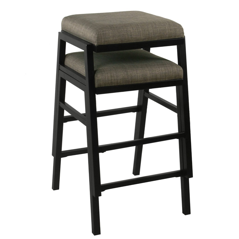 """Image of """"24"""""""" Stacking Counterstool Woven Gray - HomePop"""""""