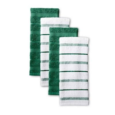 KitchenAid 4pk Cotton Albany Kitchen Towels Green