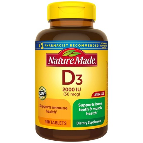 Nature Made Vitamin D3 2000 IU (50 mcg) Tablets - 400ct - image 1 of 4