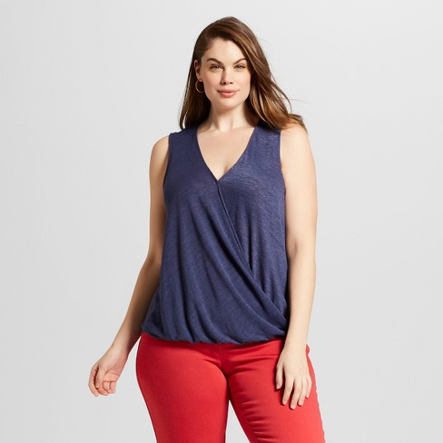 Women's Plus Size Wrap Front Tank - Universal Thread™ - image 1 of 3