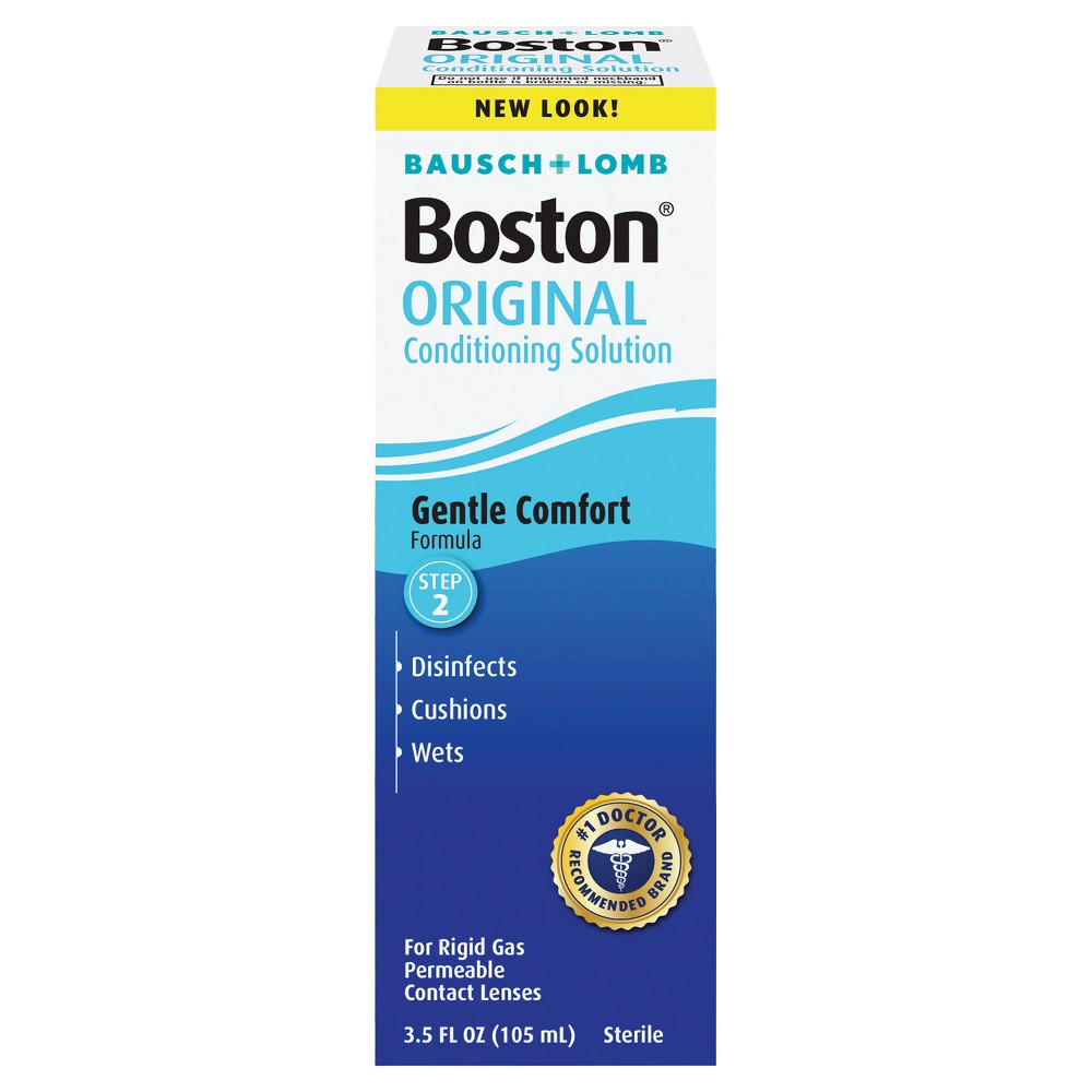 Boston Conditioning Contact Lens Solution - 3.5 fl oz Bausch and Lomb conditioning contact lens solution, Boston contact solution, hard contact lens solution Age Group: Adult.