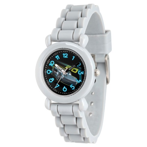 Boys' Disney Cars 3 Jackson Storm Gray Plastic Time Teacher Watch - Gray - image 1 of 2