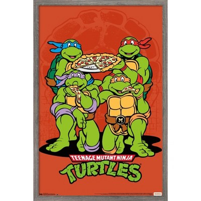 Trends International Nickelodeon Teenage Mutant Ninja Turtles - Pizza Unframed Wall Poster Print