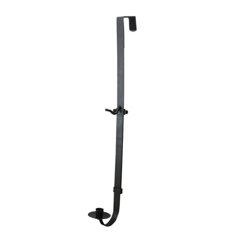 "Raz Imports 28""-35"" Black Metal Adjustable Taper Candle Holder and Wreath Door Hanger - image 1 of 2"