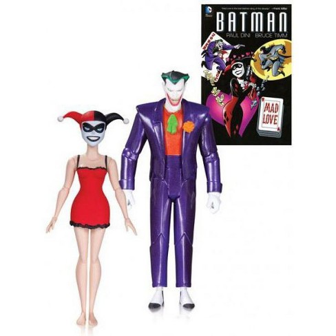Batman The Animated Series Classic Joker And Nightgown Harley With Book Action Figure 2 Pack