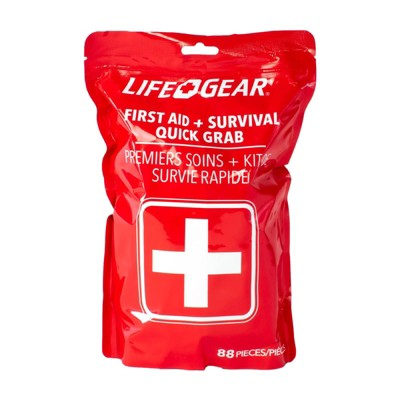 Life+Gear 88pc Quick Grab First Aid + Survival Kit