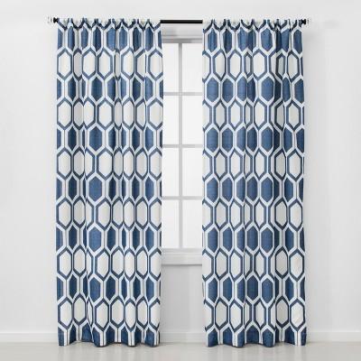 2pc 84 x40  Light Filtering Honeycomb Window Curtain Panel Navy - Project 62™
