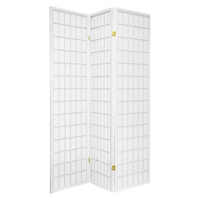 6 ft. Tall Window Pane Shoji Screen 3 Panels - Oriental Furniture