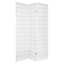 6 ft. Tall Window Pane Shoji Screen 3 Panels - Oriental Furniture