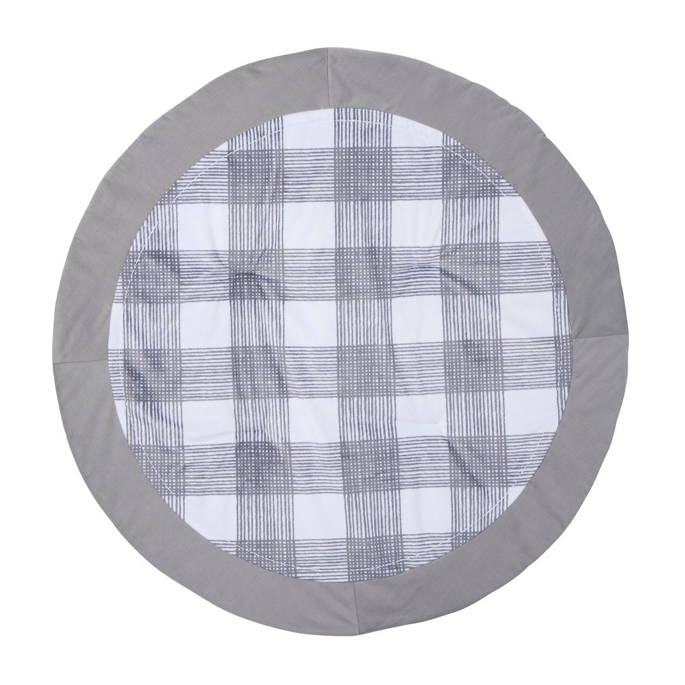 Image of Activity Circle Playmat Homespun - Cloud Island Gray Foggy Day