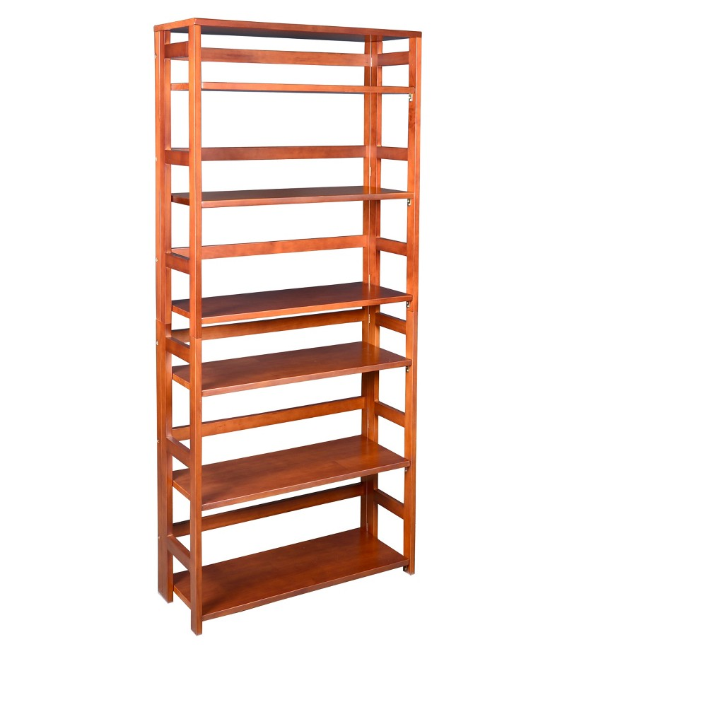 """Image of """"67"""""""" Flip Flop High Folding Bookcase Cherry - Niche, Red"""""""