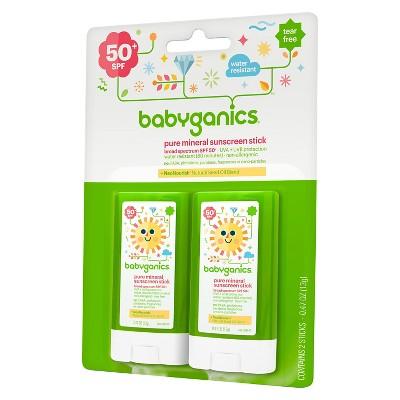 Babyganics Mineral Sunscreen Stick - SPF 50 - 2ct