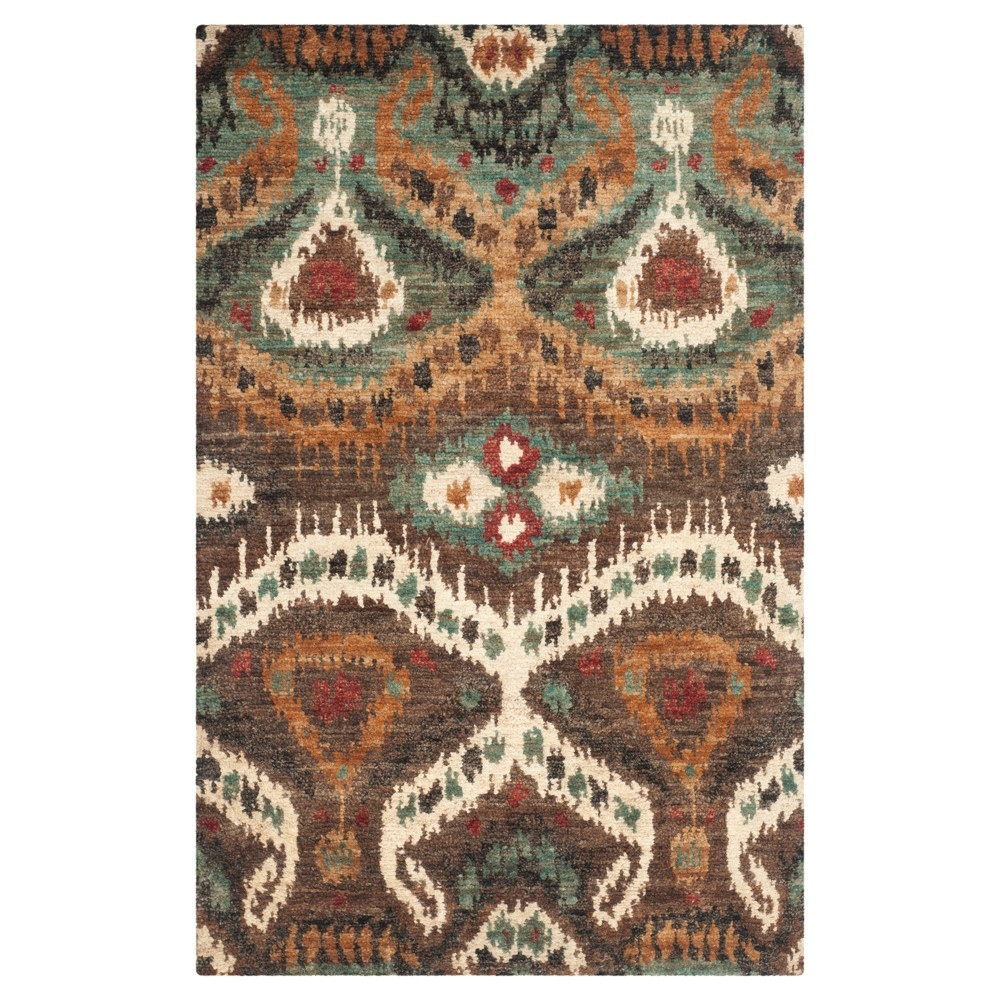 White Abstract Knotted Area Rug - (4'X6') - Safavieh