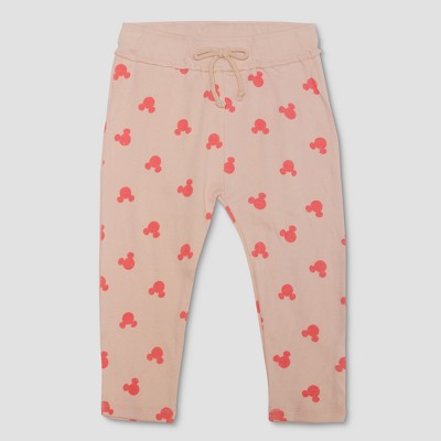 Junk Food Toddler Girls' Disney Mickey Mouse Print Leggings - Pink 2T