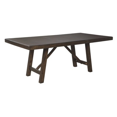 Rokane Rectangular Extendable Dining Table Brown - Signature Design by Ashley