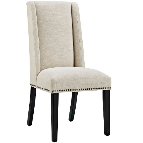 Baron Fabric Dining Chair Beige - Modway - image 1 of 4