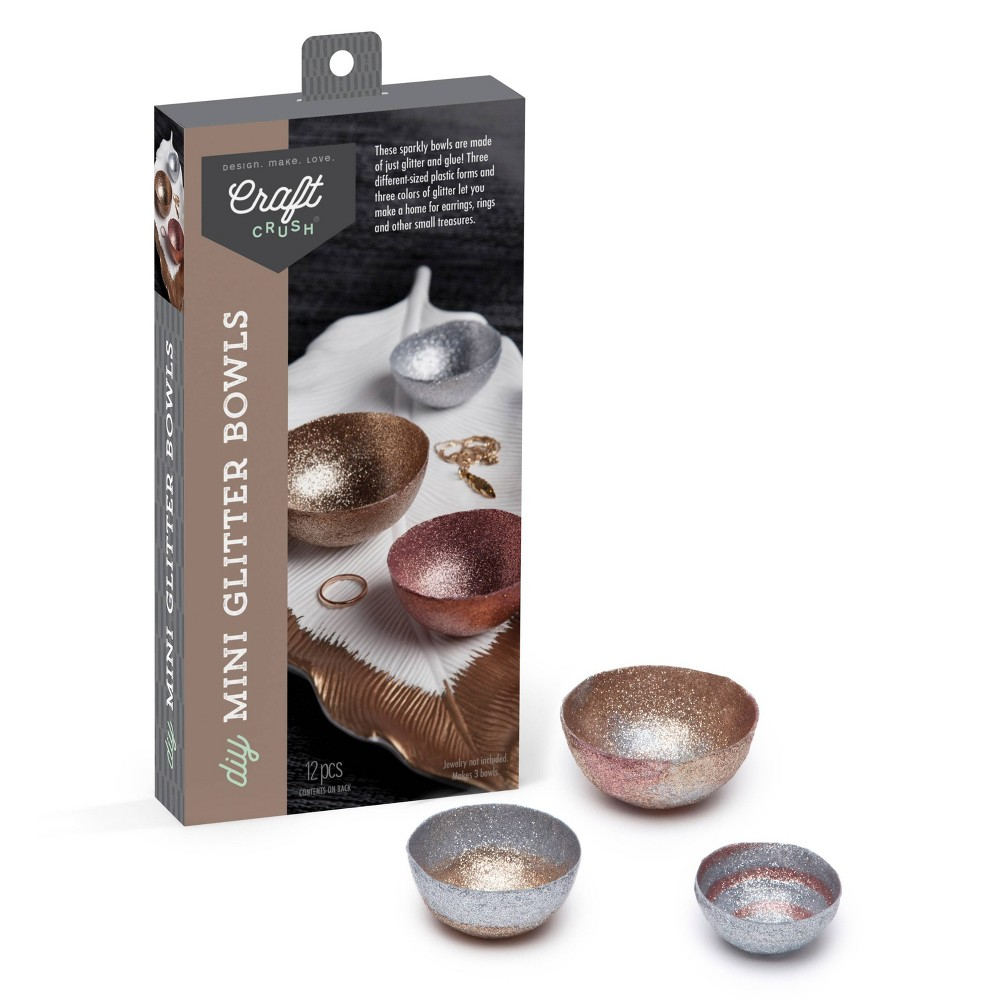 Image of Craft Crush Glitter Bowls DIY Art & Craft Kit