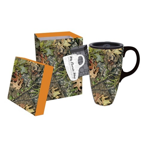 Cypress Home Mossy Oak Ceramic Latte 17oz.. Travel Coffee Cup W/Gift Box - image 1 of 1