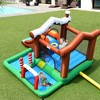 Costway Inflatable Bouncer Snow House Jump ClimbingSlide Ball Pit w/ tunnel & Blower - image 4 of 4