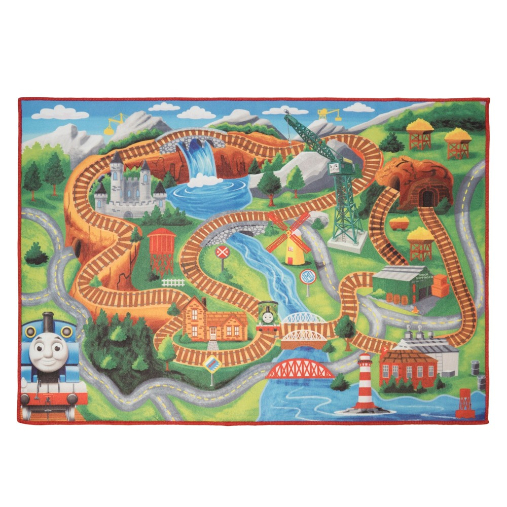 Image of Thomas & Friends 2'x6' Game Rug, Multi-Colored