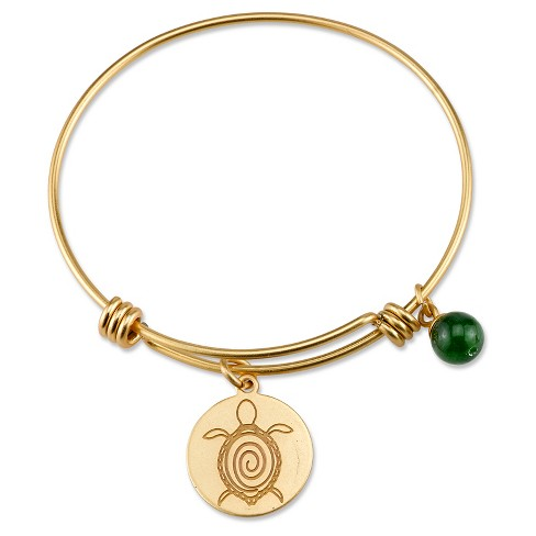 "Women's Stainless Steel Turtle Expandable Bracelet - gold (8"") - image 1 of 2"