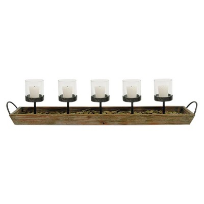 Wood & Metal Votive Holder - 3R Studios